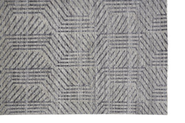 Beige, Grey Abstract Area Rug