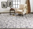 Product Image of Light Grey, Grey Abstract Area Rug