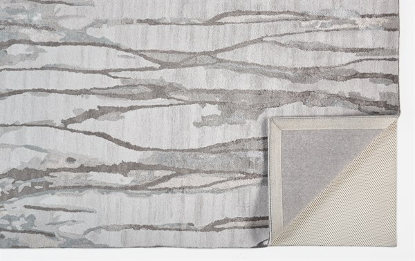 Beige, Ivory Abstract Area Rug