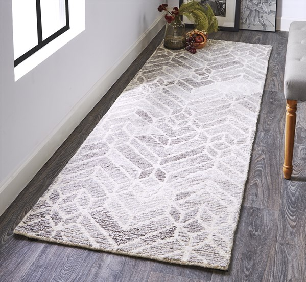 Grey, Natural Transitional Area Rug