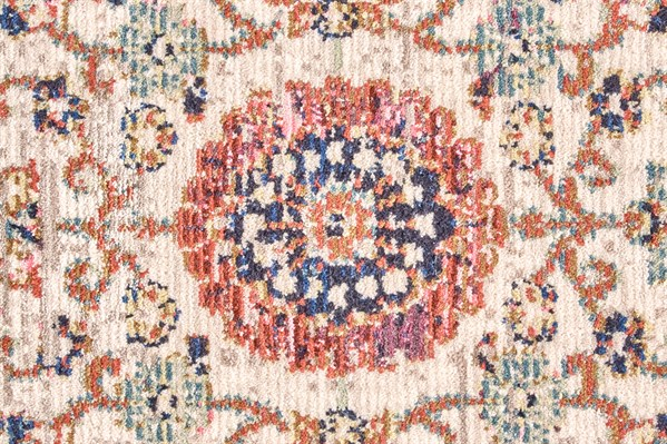 Ivory, Rust Transitional Area Rug