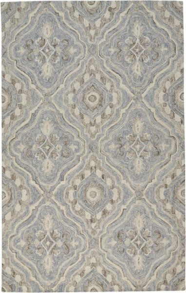 Grey, Brown Traditional / Oriental Area Rug