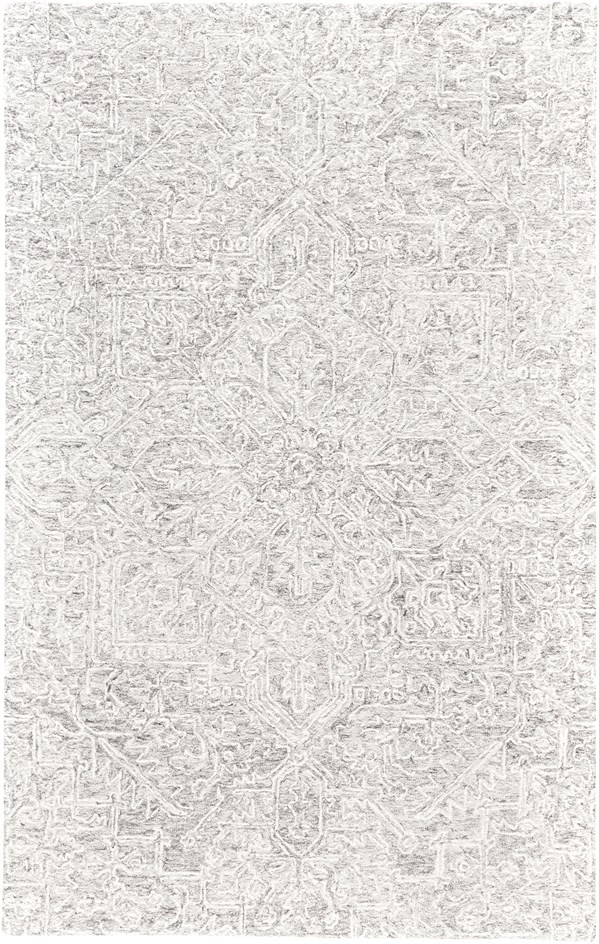 Light Grey, Ivory Traditional / Oriental Area Rug
