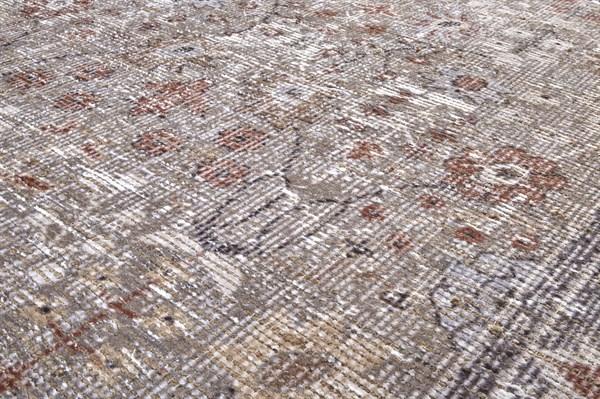 Grey, Rust Vintage / Overdyed Area Rug