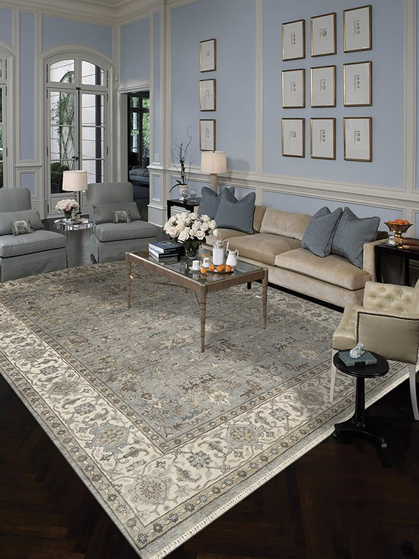 Grey (ANQ-11) Traditional / Oriental Area Rug