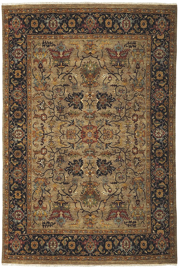 Camel, Blue (ANQ-8) Traditional / Oriental Area Rug