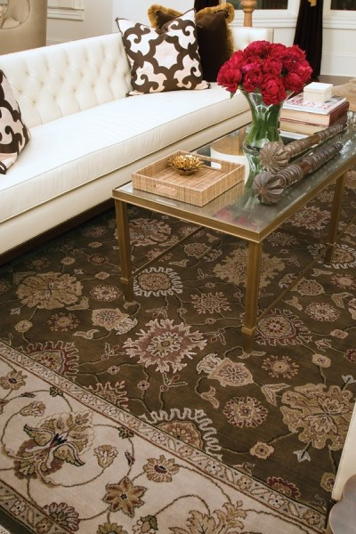 Chocolate, Beige (CD-25BB) Traditional / Oriental Area Rug