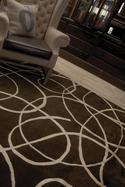 Brown (SYN-5) Contemporary / Modern Area Rug