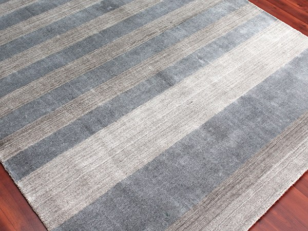 Gray Striped Area Rug