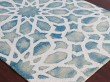 Product Image of Marine, White Contemporary / Modern Area Rug