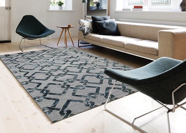 Moss Gray Contemporary / Modern Area Rug