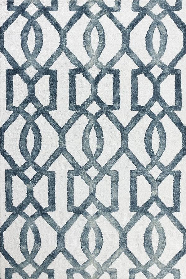 White, Grey Moroccan Area Rug