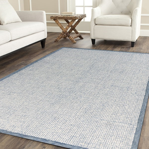 Blue, Aqua (IDI-1) Contemporary / Modern Area Rug