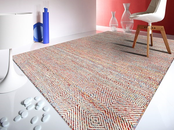 Red, Teal (AMB-2) Bohemian Area Rug