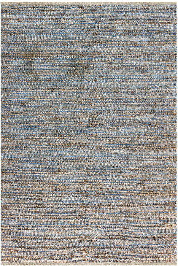 Blue, Brown (NAT-1) Rustic / Farmhouse Area Rug