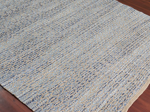 Polo Blue, Beige (ZOL-3) Rustic / Farmhouse Area Rug