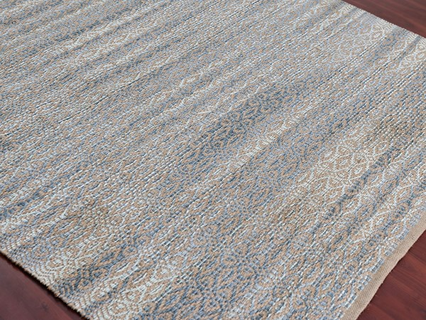 Sky Blue, Beige (ZOL-5) Rustic / Farmhouse Area Rug