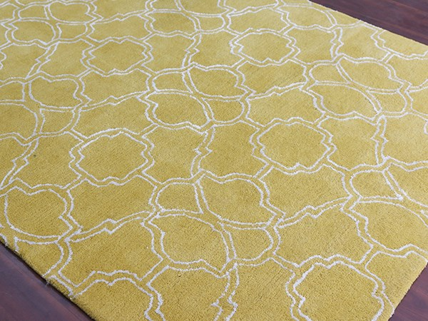 Yellow, Ivory (CIT-4) Moroccan Area Rug