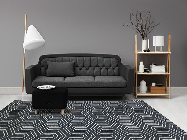 Gray (CIT-14) Contemporary / Modern Area Rug