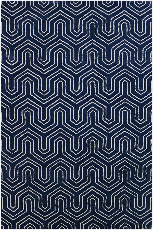 Blue (CIT-12) Contemporary / Modern Area Rug