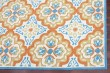 Product Image of Orange, Blue, Ivory Moroccan Area Rug