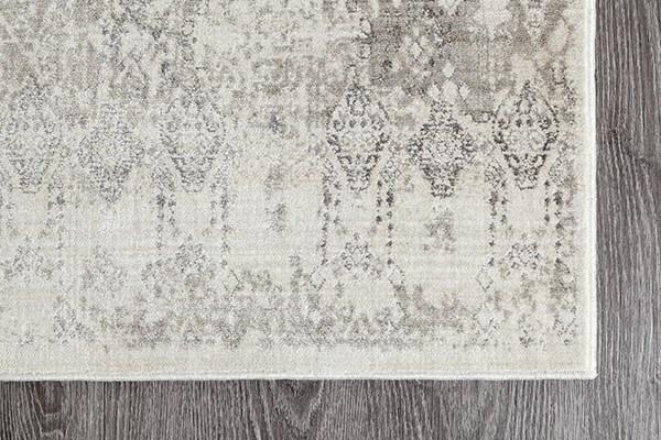 Ivory, Beige, Silver Bohemian Area Rug