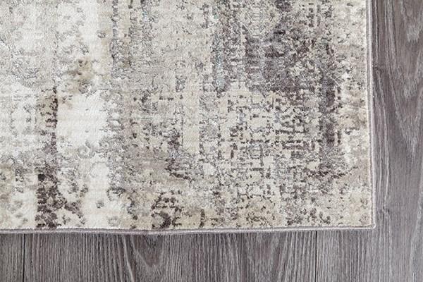 Grey, Aqua, Ivory Vintage / Overdyed Area Rug