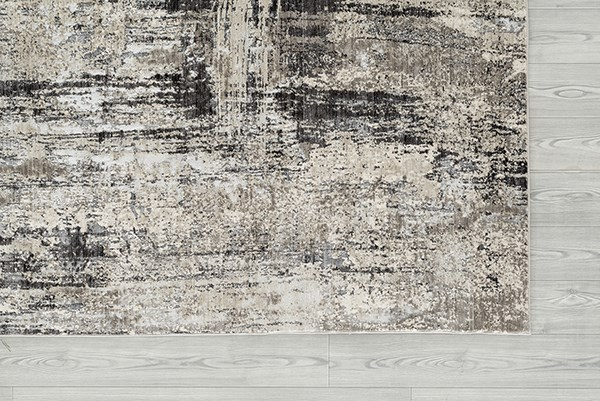 Silver, Grey, Charcoal Contemporary / Modern Area Rug