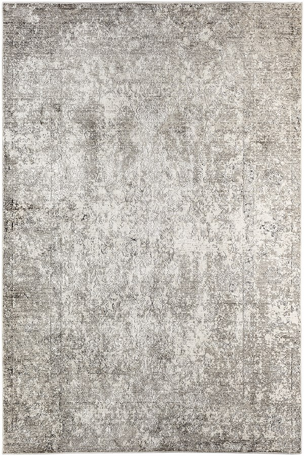 Light Grey, Beige, Silver Vintage / Overdyed Area Rug
