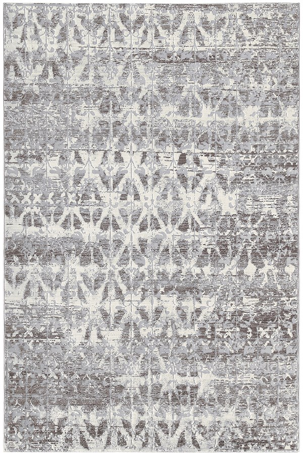 Silver, Grey, Ivory Vintage / Overdyed Area Rug