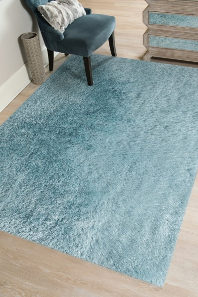 Newborn Blue (MET-45) Shag Area Rug