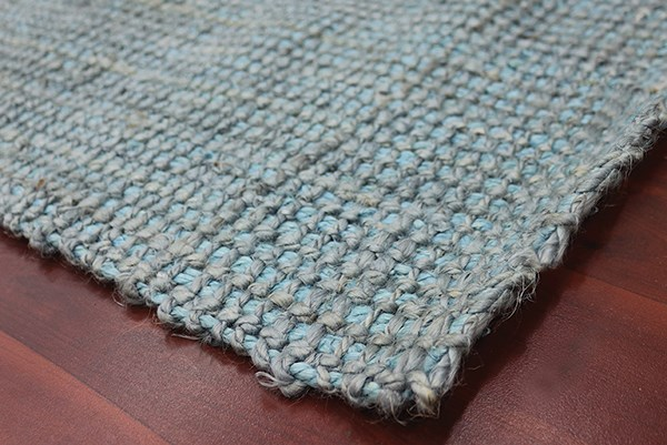 Aqua Blue (AND-5) Rustic / Farmhouse Area Rug