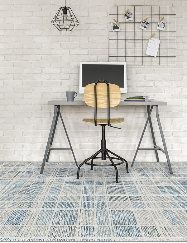 Light Blue, Grey, Ivory Geometric Area Rug