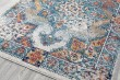 Product Image of Blue, Orange, Grey Vintage / Overdyed Area Rug