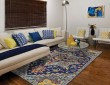 Product Image of Indigo, Yellow, Orange, Sky Bohemian Area Rug