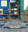 Product Image of Steel Blue, Pale Yellow Bohemian Area Rug