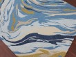 Product Image of Azure Blue Abstract Area Rug