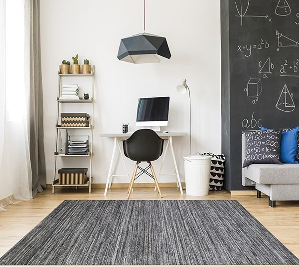 Dark Gray (HEA-6) Contemporary / Modern Area Rug
