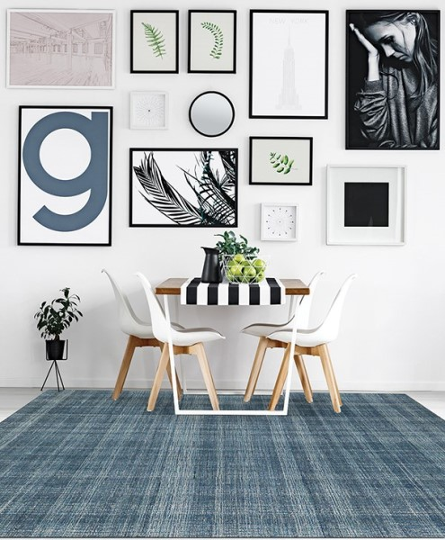 Turquoise Blue (LAU-2) Contemporary / Modern Area Rug