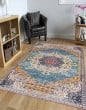 Product Image of Blue, Yellow, Pink Bohemian Area Rug