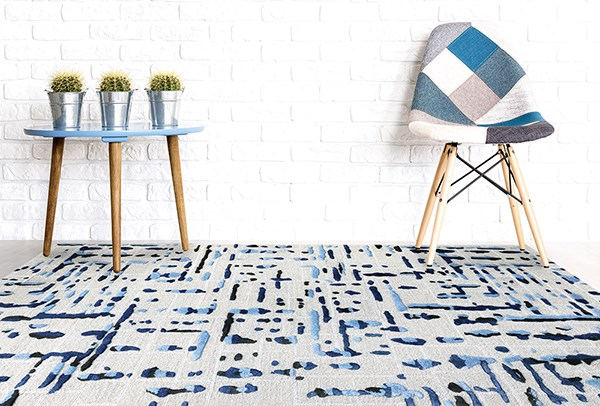 Ivory (PRL-9) Contemporary / Modern Area Rug