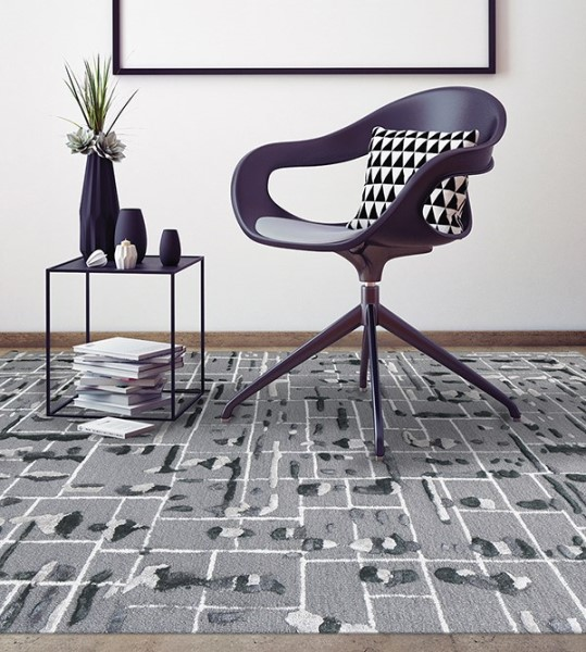 Gray (PRL-11) Contemporary / Modern Area Rug