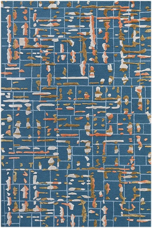 Blue (PRL-22) Contemporary / Modern Area Rug