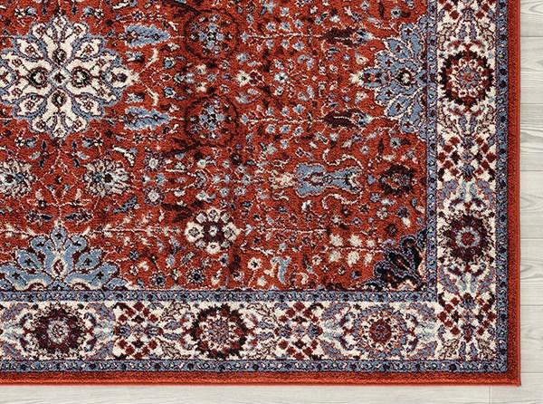 Crimson, Blue, Cream Traditional / Oriental Area Rug
