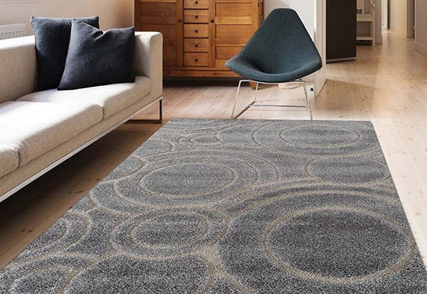 Gray Contemporary / Modern Area Rug