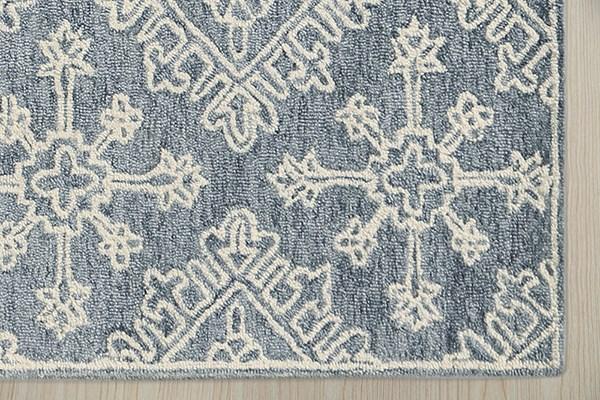 Dark Grey, Ivory Moroccan Area Rug