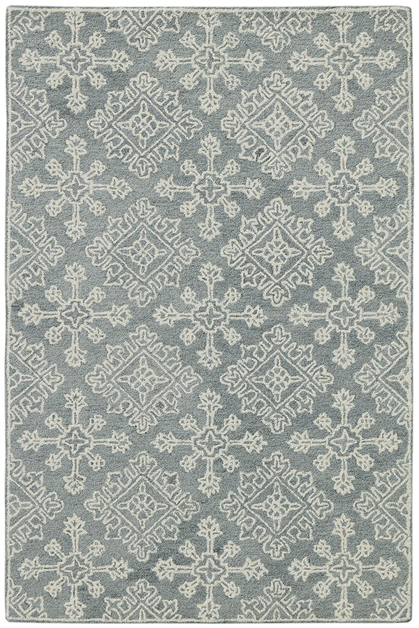 Grey, Green, Ivory Moroccan Area Rug