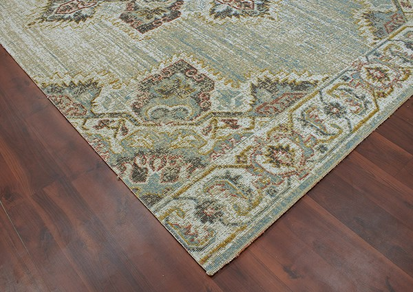 Beige, Brown, Blue, Ivory Traditional / Oriental Area Rug