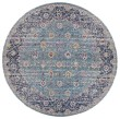 Product Image of Teal, Pink Orange, Navy, Ivory Vintage / Overdyed Area Rug
