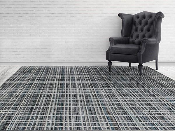 Grey, Ivory (PRD-01) Contemporary / Modern Area Rug